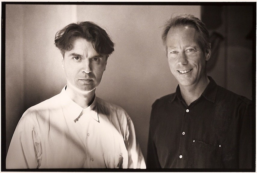 David Byrne and Tom in 1989. Photo by Steve Laufer