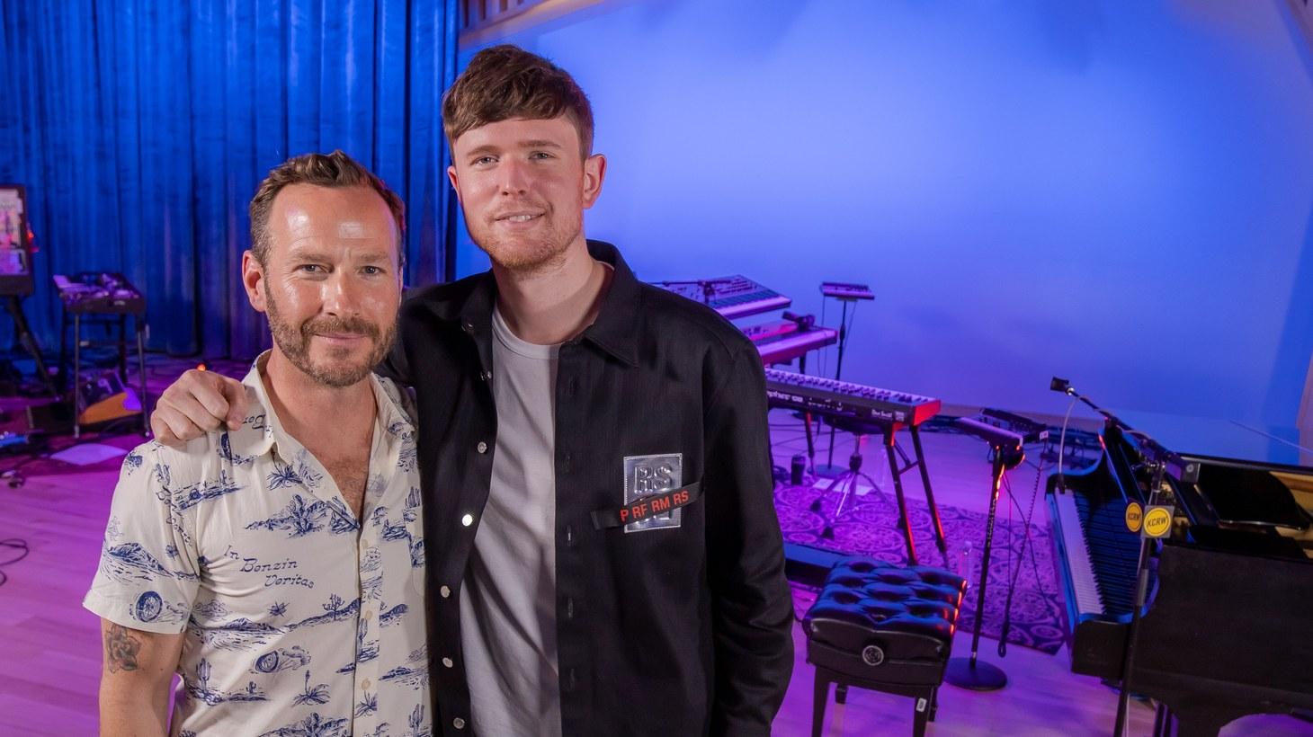 Jason Bentley at KCRW's new studio with James Blake
