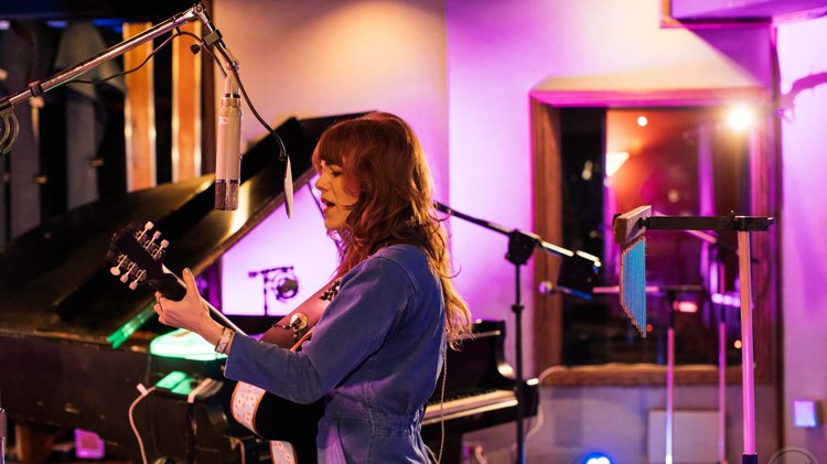 Jenny Lewis performed music behind her new album On the Line at the legendary Village Studios for KCRW.