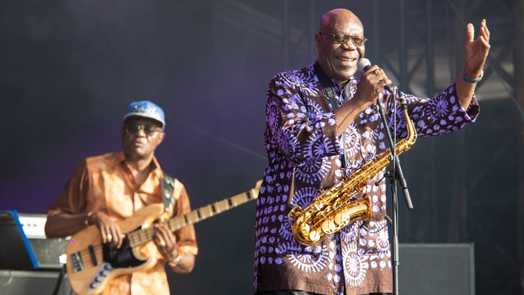 The African music titan Manu Dibango helped to internationalize African music and also influenced all of it in his wake.