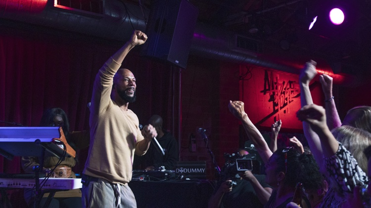 Music For Your Weekend feat. Common live on MBE, Little Brother, and Maria Usbeck