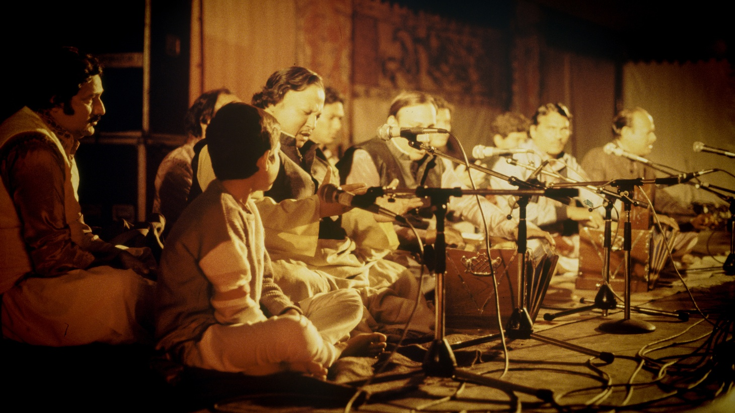 Nusrat Fateh Ali Khan and Party at WOMAD in 1985