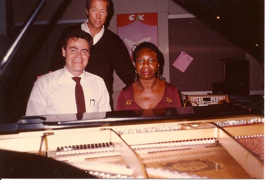 Roger Steffens, Tom Schnabel, Nina Simone in 1985