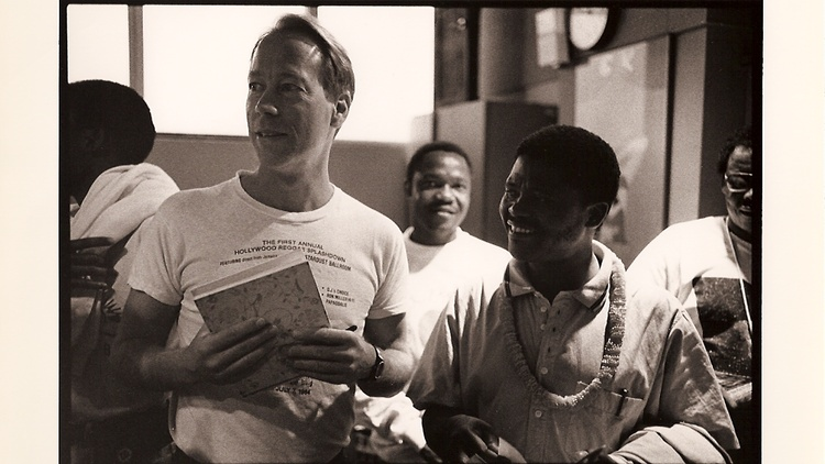 Joseph Shabalala and members of Ladysmith Black Mambazo visited KCRW in 1988 to perform in the old basement studio. We share audio excerpts from that interview for this remembrance.
