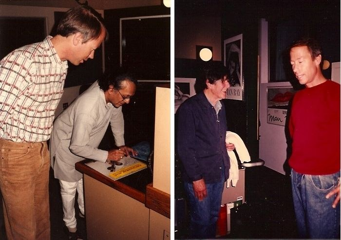 Tom with Ravi Shankar, Tom with John Cage