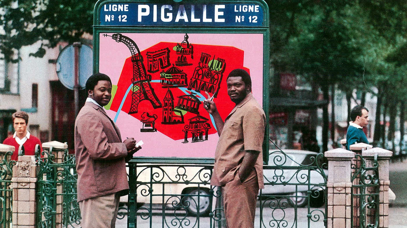 Congolese superstar Franco (on right) in Paris in the late 70's/early 80's