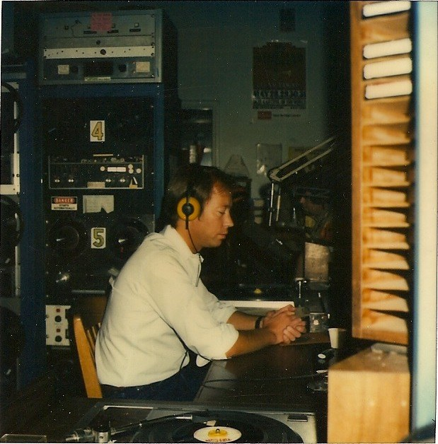 Tom in the John Adams Middle School studio in 1978