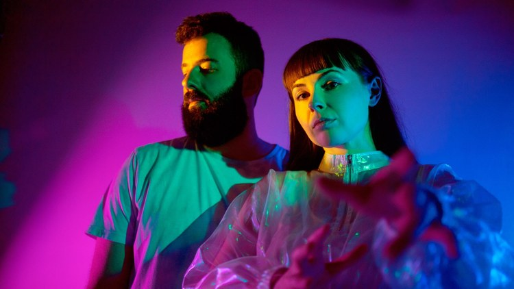 "Brooklyn-based duo CLAVVS showcase hypnotic vocals and superb sequences. They return with ""Half Moon."""