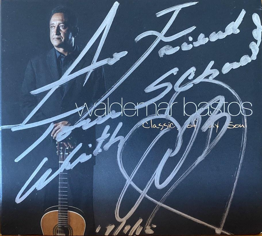 Waldemar Bastos autographed CD to Tom Schnabel