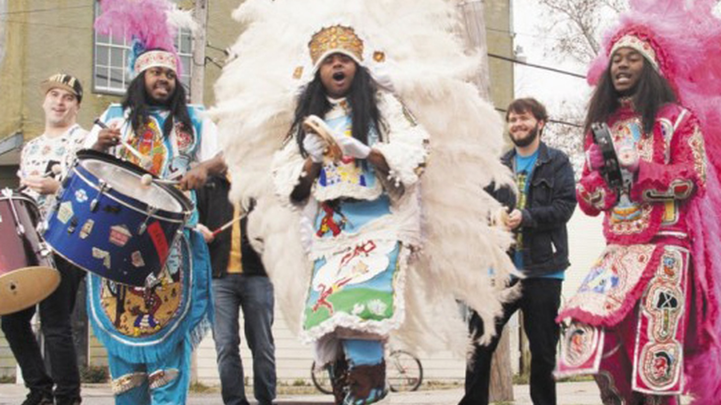 New Orleans' own Mardi Gras newcomers Cha Wa make their debut on their album, Funk 'n' Feathers. It's an apt title, as it encapsulates their fun-loving vibe tied to the traditions of the Crescent City's Mardi Gras Indians.