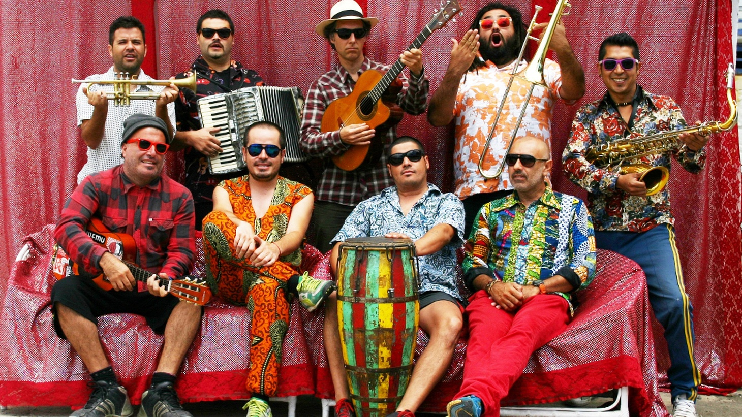 For 15 years, Chilean group Chico Trujillo have been the kings of Pan Latin-American cumbia, with a festive party atmosphere. For their latest album, they are aided by a 30-piece carnival-tested brass band, serving as a perfect appetizer for this year's Latin Alternative Music Conference, taking place in NYC this week!