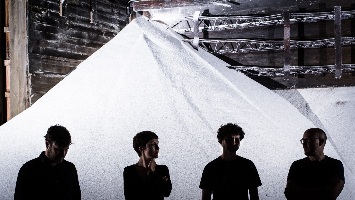 The band's roiling, hands-on electronic music hews between dance fare and slower new-wave sounds.