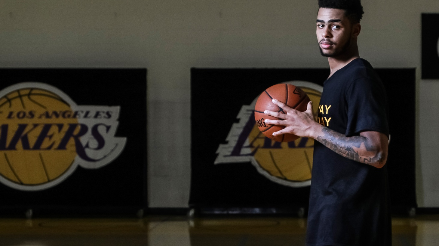 Lakers point guard D'Angelo Russell is one of the most promising players in the current lineup. We visited the Lakers' practice facility to find out his favorite songs.