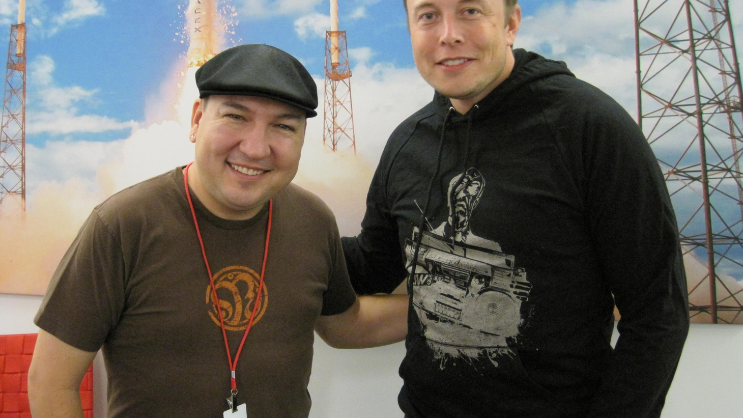 In a Guest DJ Project first, we took a field trip to the SpaceX headquarters to visit with CEO Elon Musk as the company prepares to launch an unmanned capsule to the International Space Station in 2012. Elon shares his favorite song to whistle, the Andrea Bocelli track that reminds him the world is a beautiful place and shows his sense of humor with a pick by Monty Python.