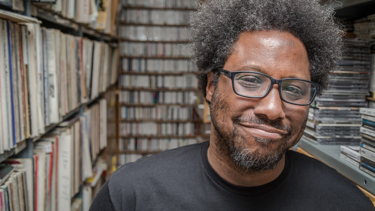 """Comedian W. Kamau Bell calls Jimi Hendrix the """"patron saint of black weirdos,"""" talks about how John Coltrane inspired his particular brand of comedy, and credits Rollins Band with pumping him up to do standup.Bell currently hosts the United Shades of America series on CNN and has a stand up special on Showtime called Semi-Prominent Negro."""