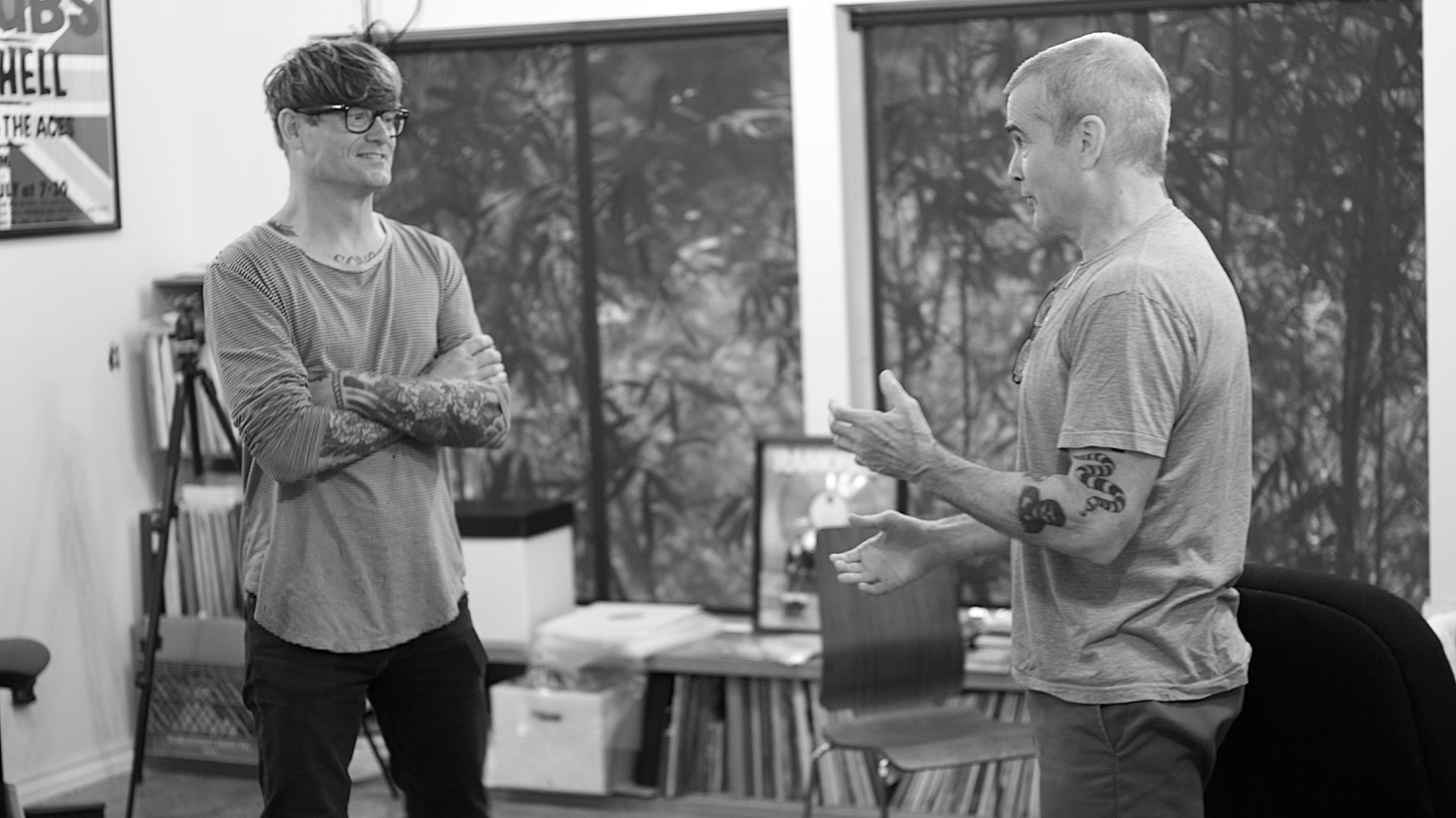 John Dwyer and Henry Rollins.
