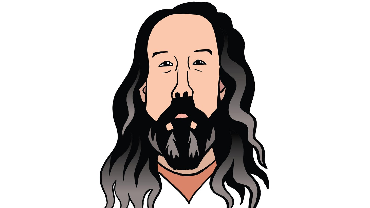 Illustration of Andrew Weatherall.