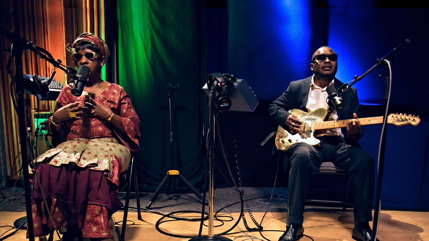 Grammy-nominated Malian musical duo Amadou & Mariam stop by our studio to preview new music before the release of their forthcoming full-length album.