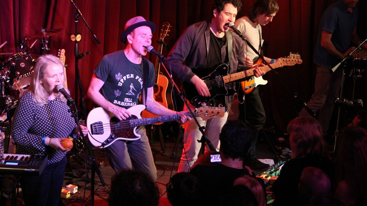 Glaswegian band Belle & Sebastian brought an evening of infectious pop to an intimate crowd at Apogee Studios.