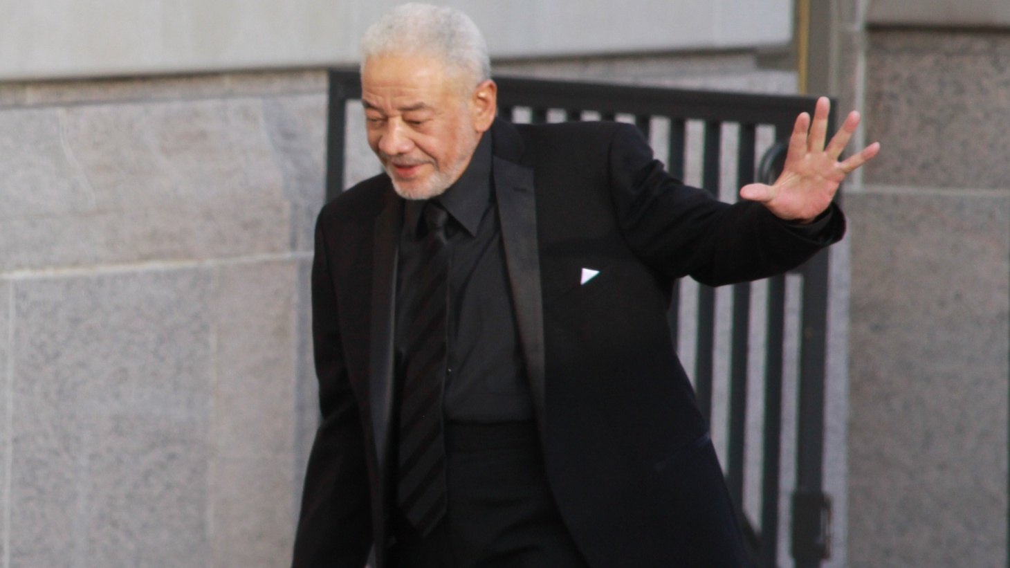 Bill Withers arrives at the Rock and Roll Hall of Fame Induction Ceremony on April 18, 2015.