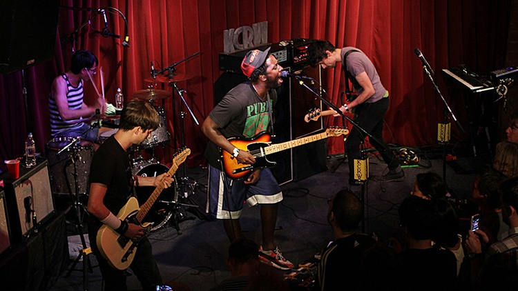 UK dance-punk purveyors Bloc Party return to KCRW to premiere live versions of songs from their new album, with a decidedly more rock-driven sound.
