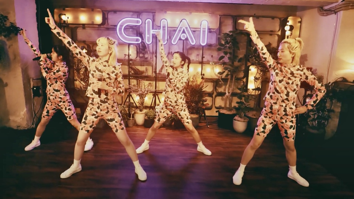 While we'd love nothing more than to don our finest and dance along to CHAI's stage choreography in person, Morning Becomes Eclectic has the next best thing: A live performance and song commentary from CHAI, just for KCRW.