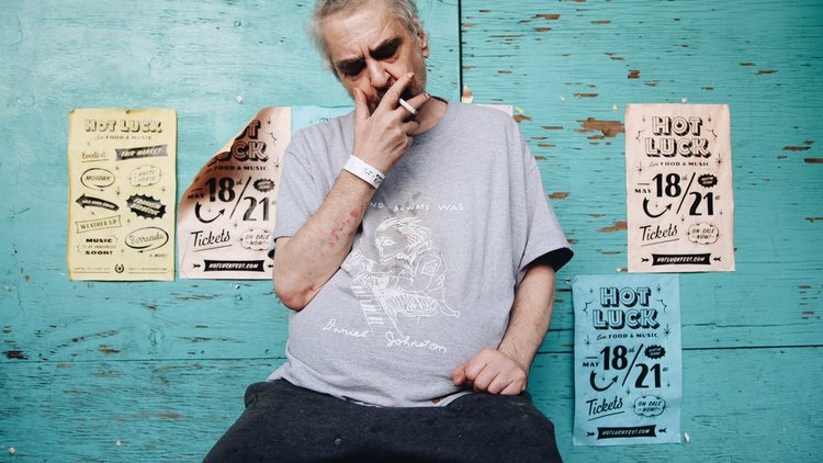 An all-star band of musicians will join cult favorite Daniel Johnston for a live session in our studio.