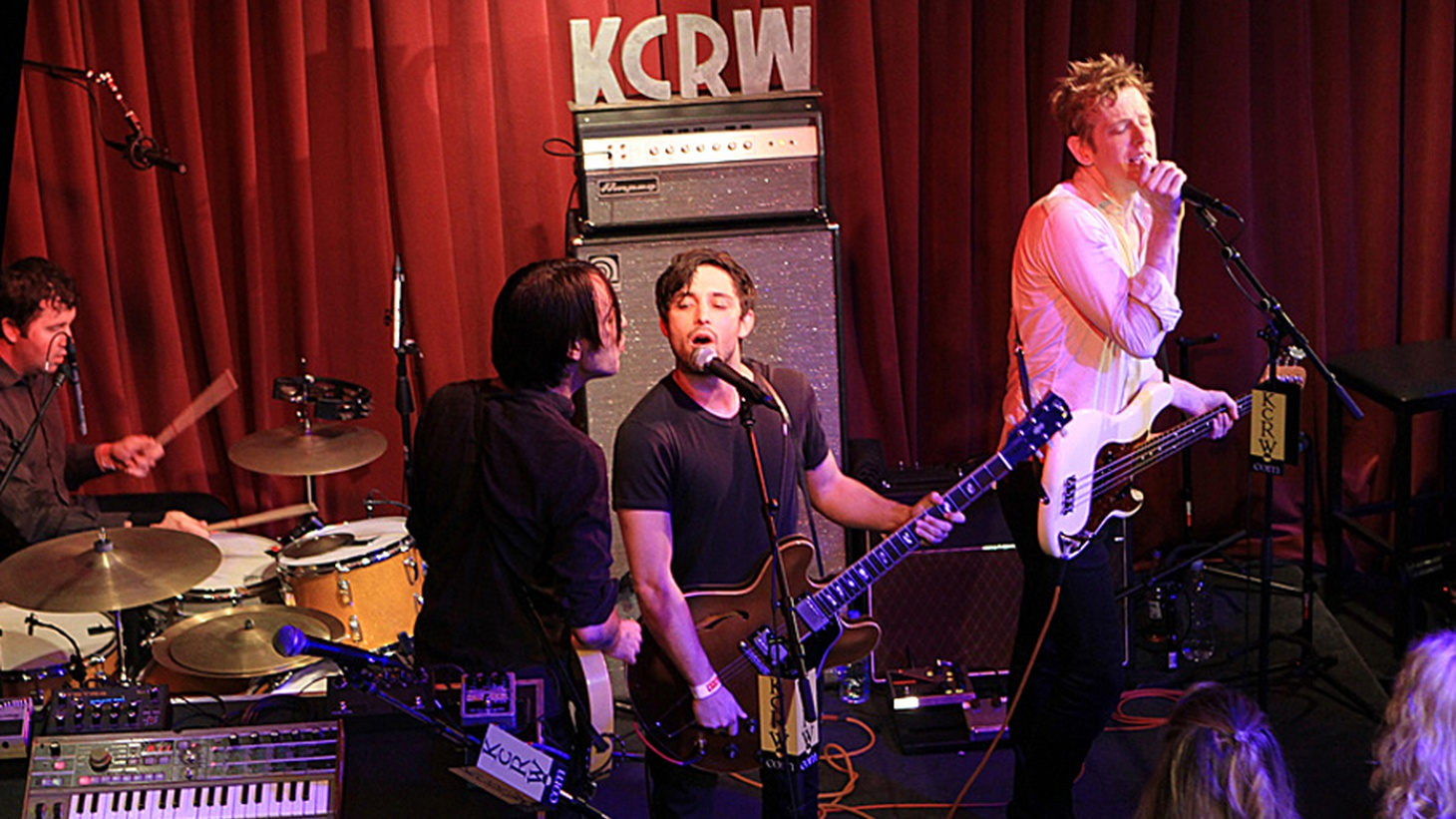 Indie rock super group Divine Fits combines the talents of four unique musicians with a wide range of talents, and they recorded a high-energy set for KCRW's Apogee Sessions.