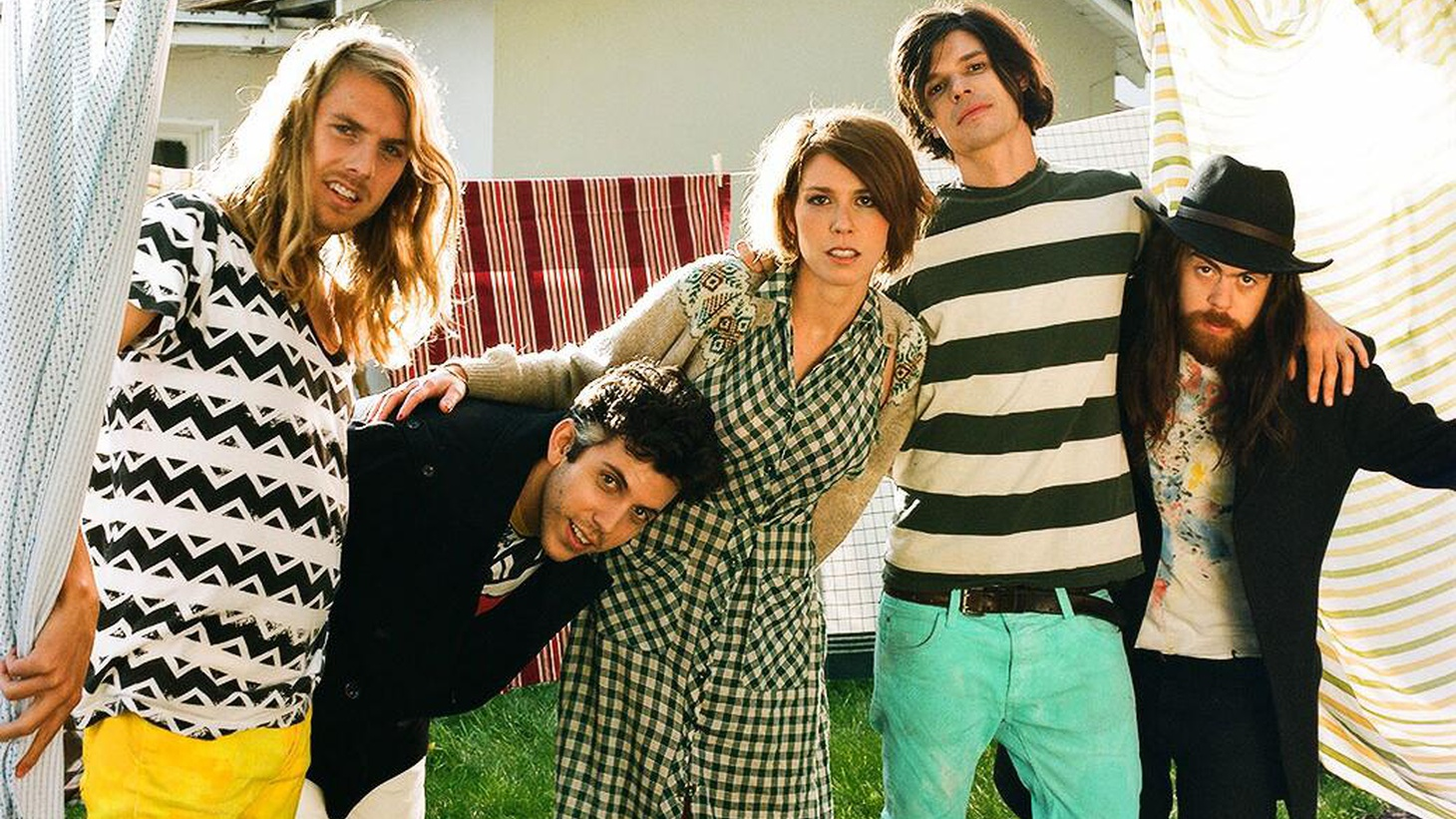 The five globe-trotting members of Grouplove met on the isle of Crete and had so much fun making music together that they pooled their funds and recorded their debut here in Los Angeles. Lucky for us, they'll reconvene to perform their songs live on Morning Becomes Eclectic when they join us at 11:15am.