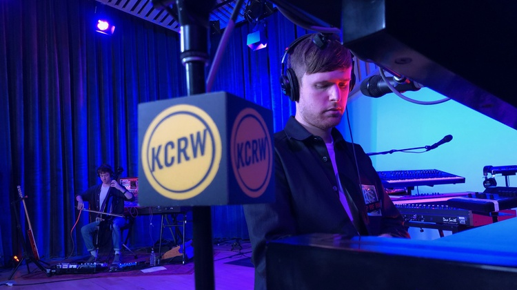 James Blake live from KCRW's HQ studio