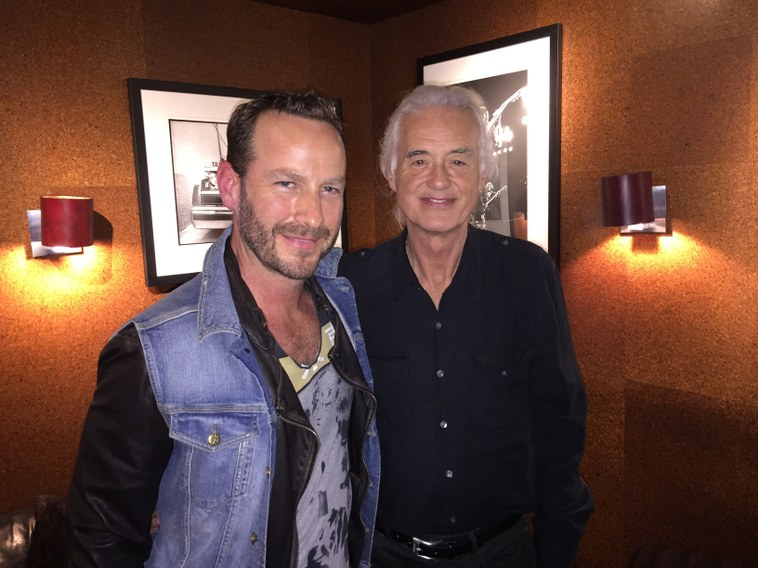 Jimmy Page and Jason Bentley