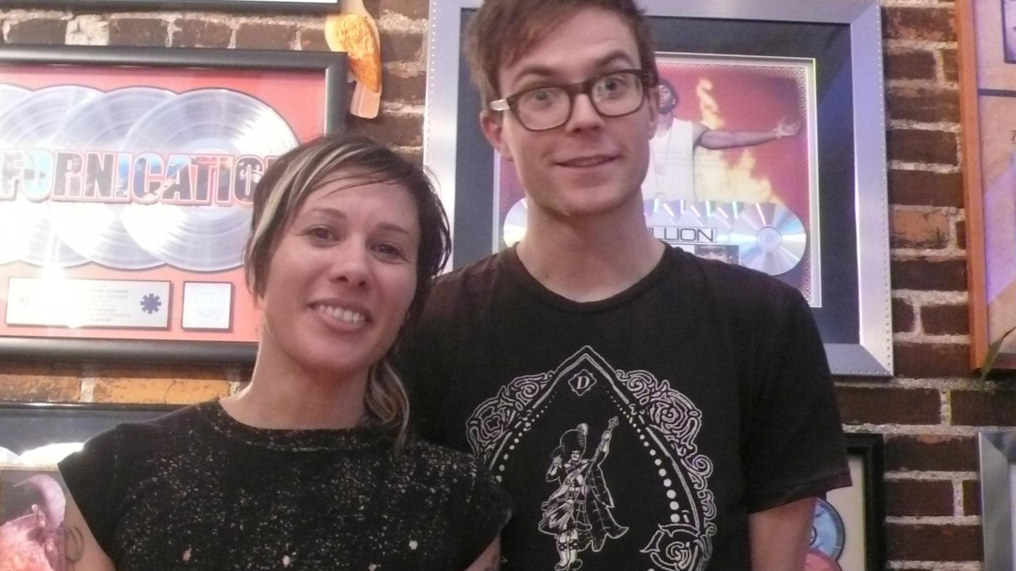 Dynamic duo Matt and Kim do their thing on Morning Becomes Eclectic at 11:15am.