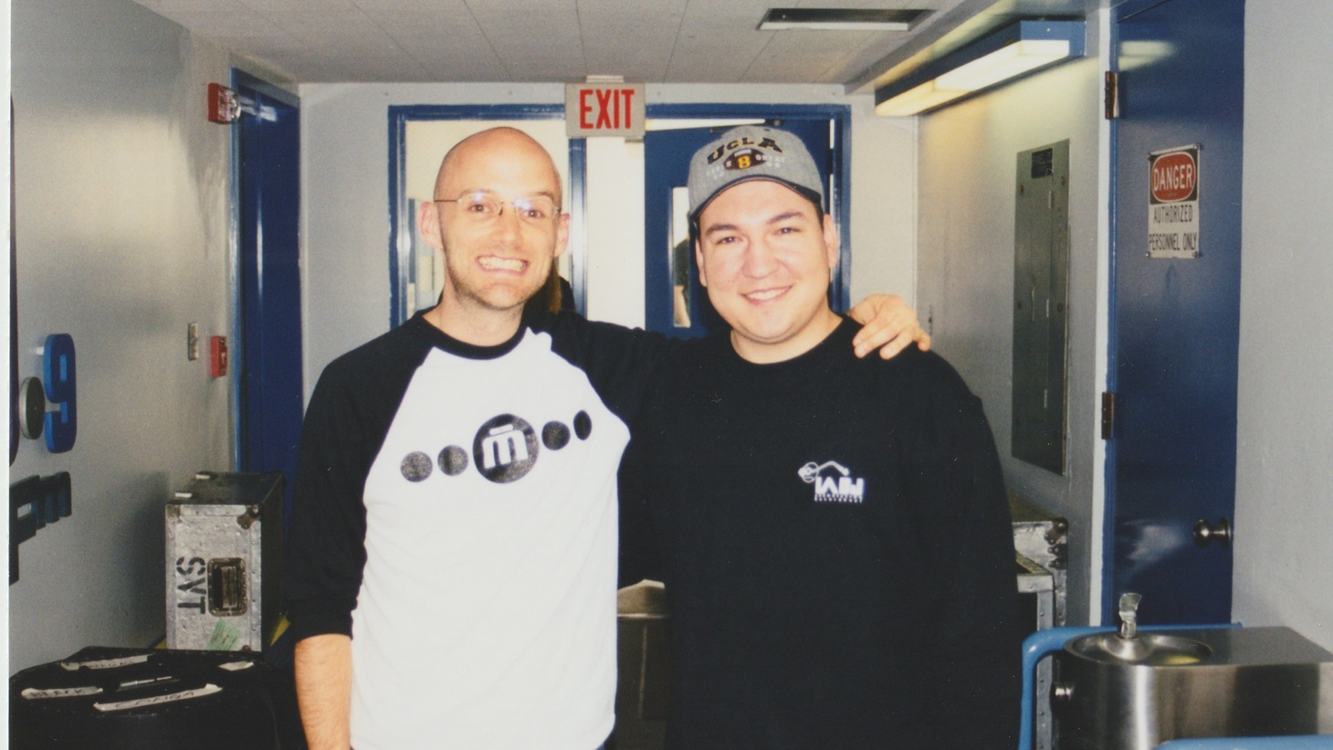 Moby and Raul Campos at KCRW on June 11, 1999.