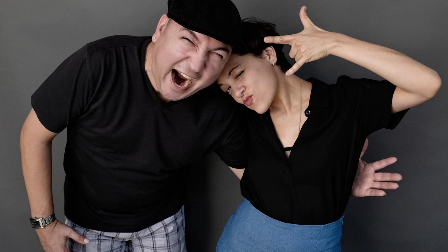 Natalia Lafourcade and KCRW DJ Raul Campos.