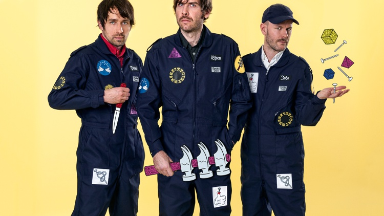 Indie pop trio Peter Bjorn and John collaborated with a series of prominent producers on Breakin' Point.