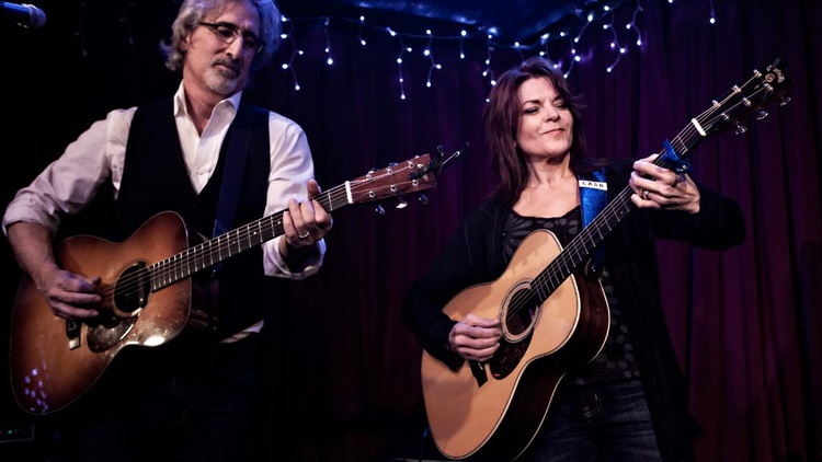"Grammy Award-winning artist Rosanne Cash performed songs from her poetic new album, ""The River & The Thread,"" for an intimate audience at Apogee Studios."