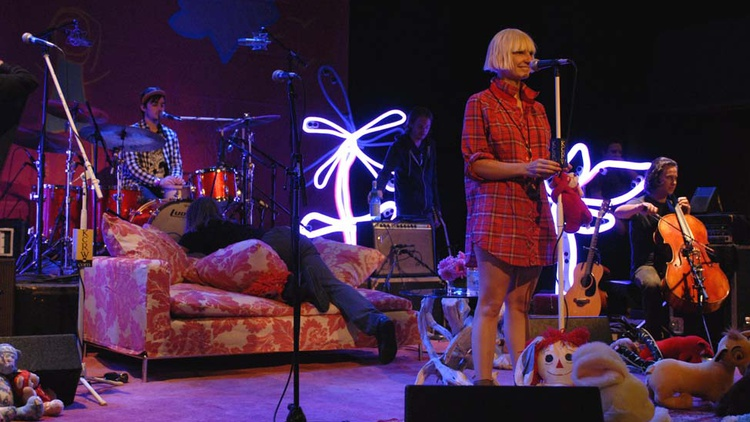 Our first live KCRW Sessions show at the Malibu Performing Arts Center features Sia. The show includes two sets of music and an interview with the artist conducted by Nic Harcourt.