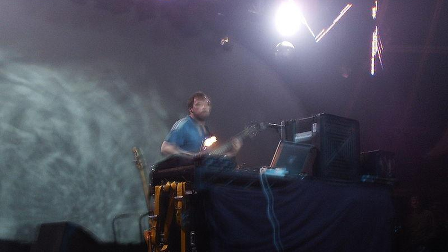 Avant garde electronica pioneer Squarepusher pushes the boundaries of music, exploring drum and bass and industrial sounds.