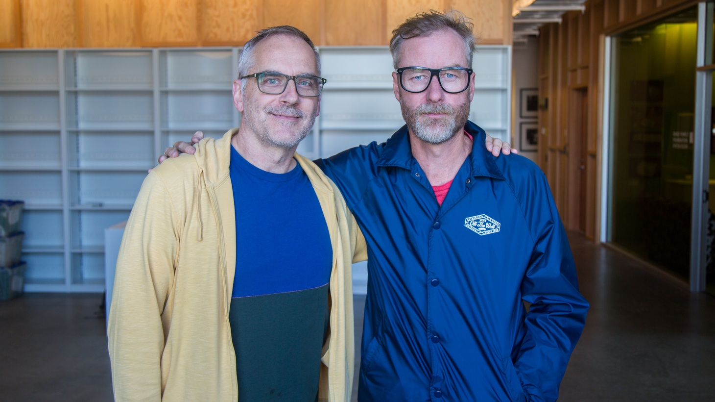 Erik Flannigan and Matt Berninger.