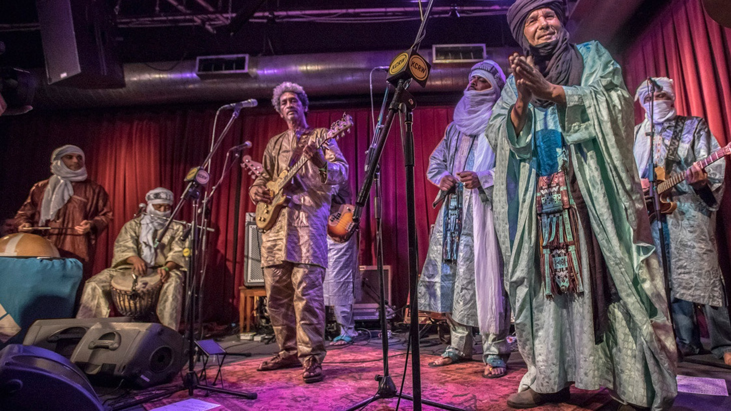 Nomadic musicians from the Saharan region of northwest Africa, the members of Tinariwen have been sharing their particular brand of desert blues since 1979.
