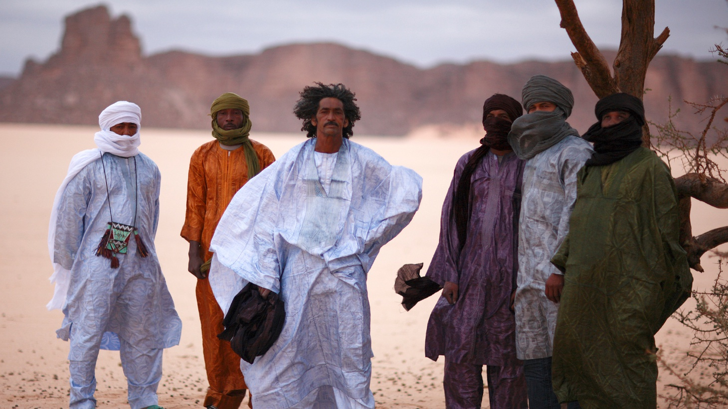 "The word Tinariwen means desert and it is the name taken by a phenomenal collective of musicians from the Sahara playing what is best called ""desert blues..."""