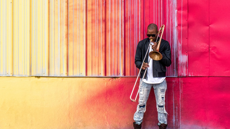 New Orleans native Trombone Shorty (aka Troy Andrews) has been playing in brass band parades since he was a kid.