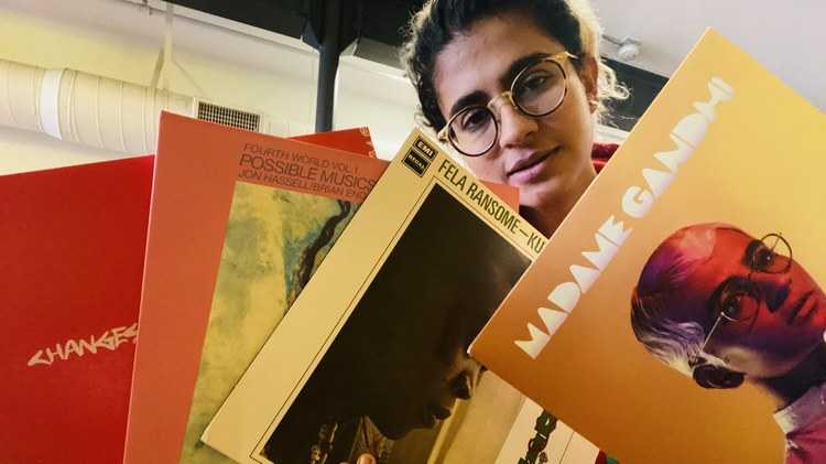 Musician and activist Madame Gandhi joins KCRW's Private Playlist to talk about Fela Kuti's enduring message; the strange bravery of Brian Eno and Jon Hassell; and Kondi Band's…
