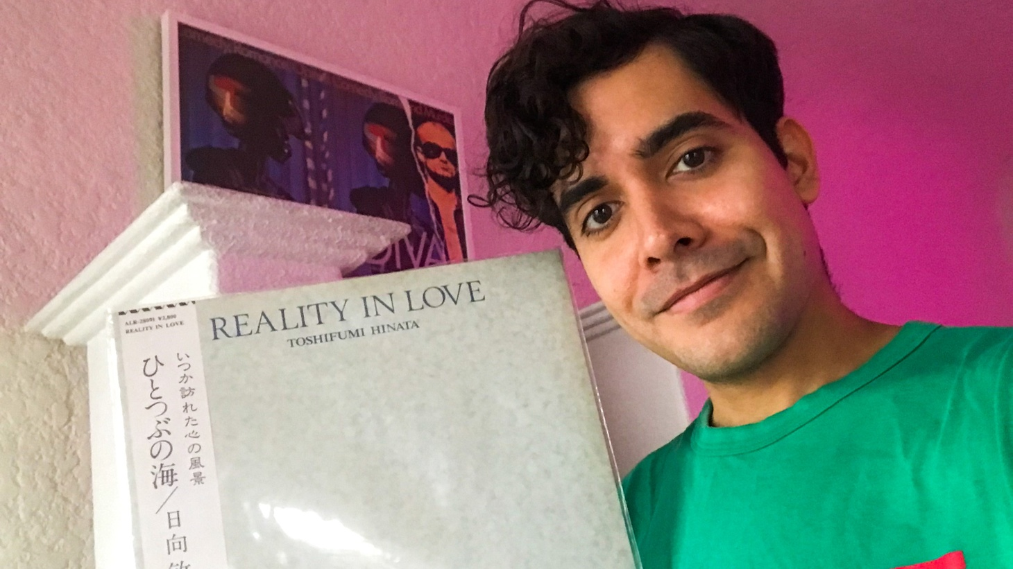 Alan Palomo (Neon Indian) with one of his playlist selections.