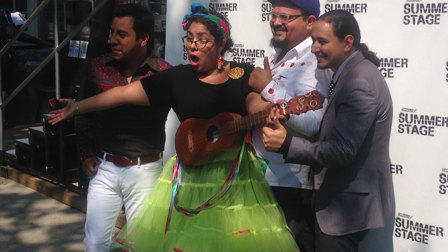 L.A. was representin' in Nueva York at the Latin Alternative Music Conference with one of our favorite home-grown bands — the signature party sound of La Santa Cecilia.