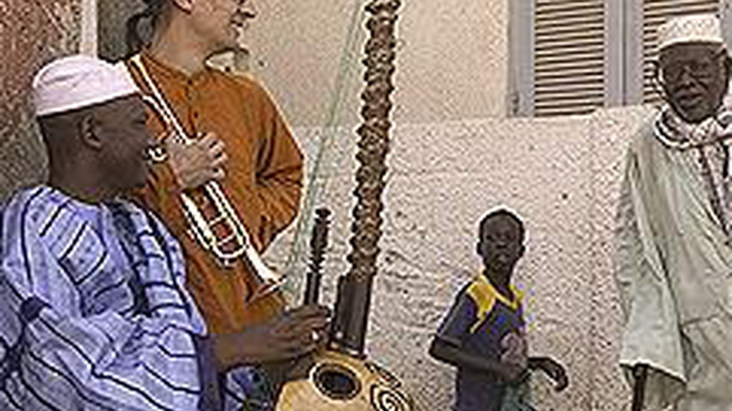 ...from Sira.   Senegalese singer and kora player Ablaye Cissoko and German born trumpeter Volker Goetze have a lot in common, including a keen ear for the other's rich culture and the griot tradition of storytelling as an oral history.