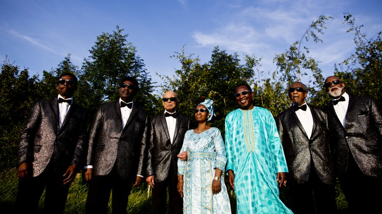 "Malian duo Amadou & Mariam team up with the Grammy Award-winning gospel group Blind Boys of Alabama for a stirring collaboration on ""Bamako To Birmingham.""  The song is a musical…"