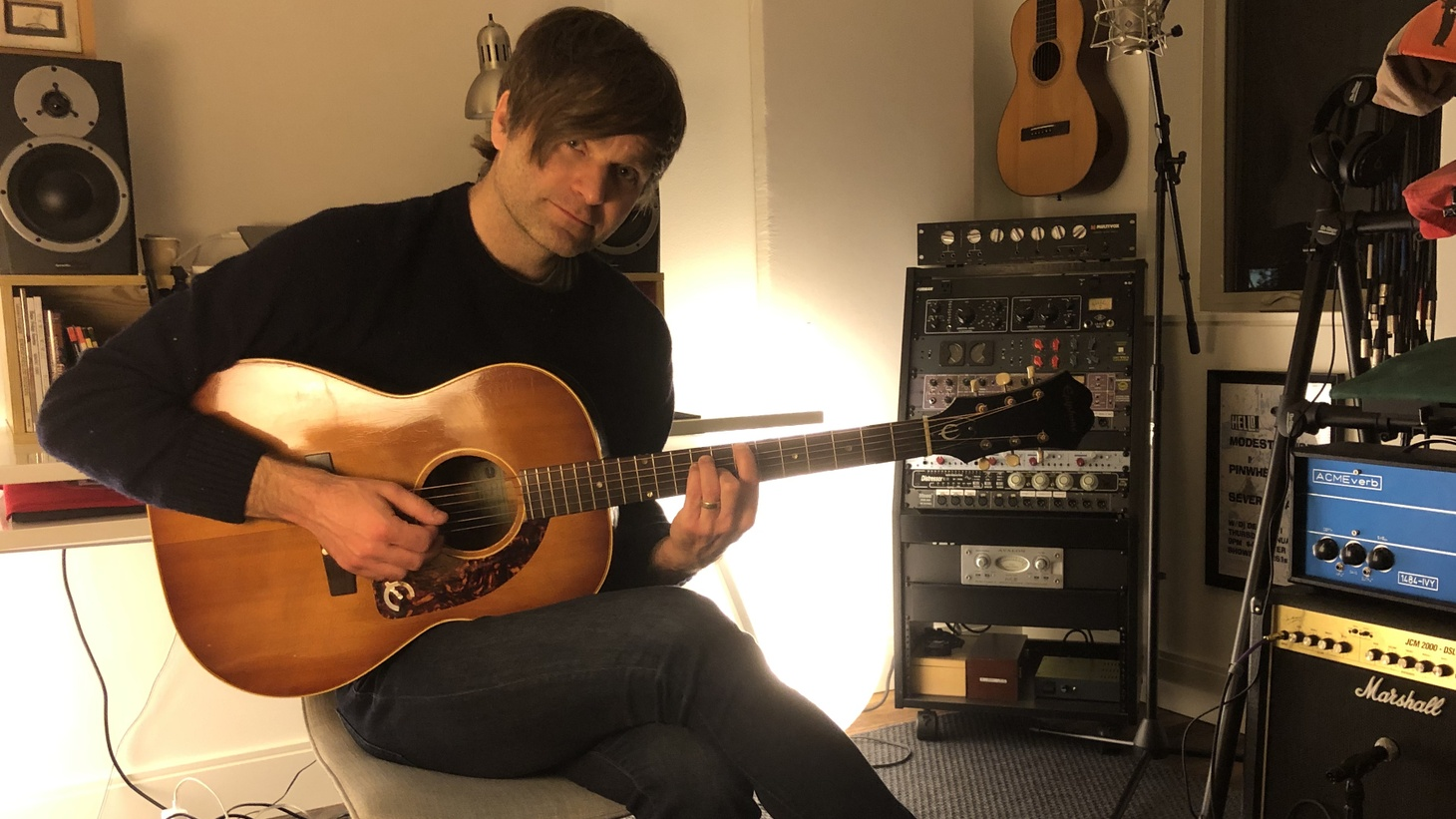 "Death Cab for Cutie singer Benjamin Gibbard kicked into high artistic gear during his time of isolation. He recorded this little gem called ""Life In Quarantine,"" at his home-studio."