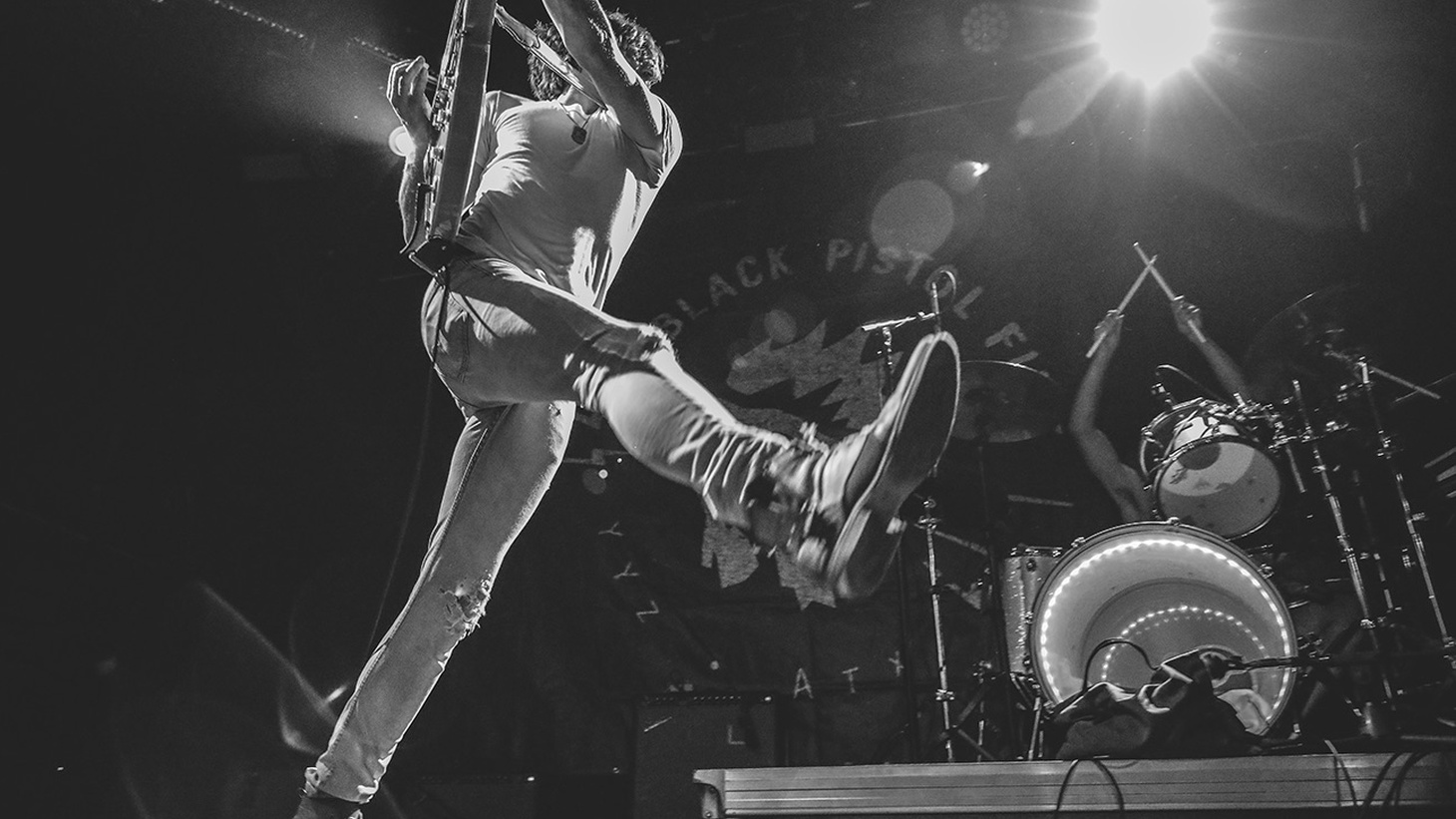 """Rock-fueled Black Pistol Fire know how to make a lot of noise for just a guitar and drum duo. We hear hints of blues, Led Zeppelin, and Chuck Berry inspiring their songs. Get ready to rock with """"Lost Cause."""""""