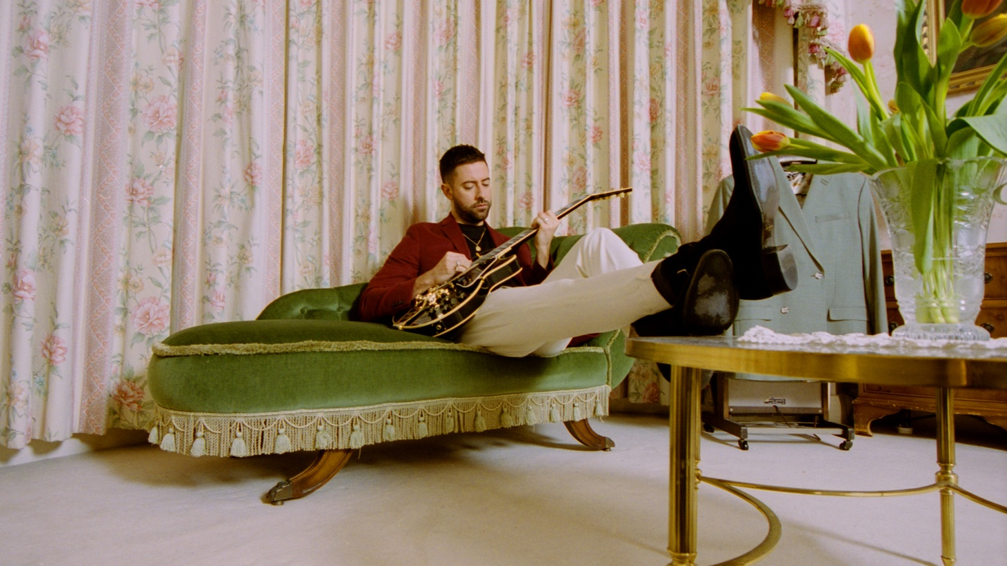 """Bruno Major contemplates soulmates on """"The Most Beautiful Thing,"""" co-written with luminary producer FINNEAS. Interlocking a resonant melody to thoughtful lyrics — we are invited to ponder finding 'the one' together."""